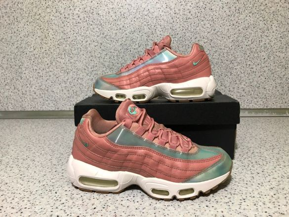 ОРИГИНАЛНИ *** Nike Air Max 95 SE Red Stardust /Washed Teal-Sail