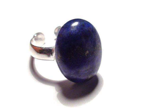 Inel delicat din Argint 925 si Lapis lazuli oval albastru