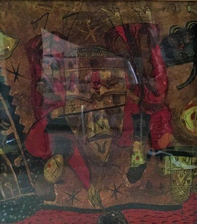 Pictura Tablou Nicolae Groza ,,Compozitie abstracta''
