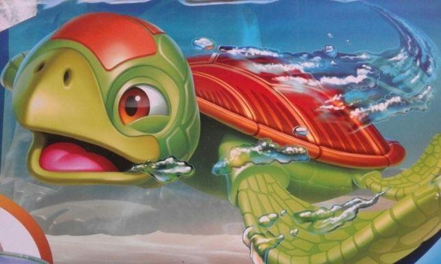 Set distractie ZURU Robo Turtle cu acvariu si formatiune stancoasa,Nou