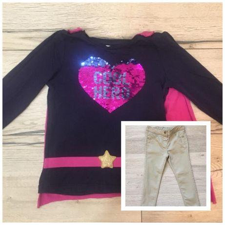 LOT: Bluza super- girl si pantaloni fetita C&A