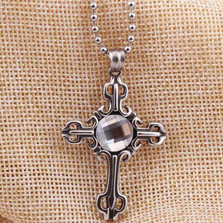 Superb crucifix unisex, din otel inoxidabil, absolut nou