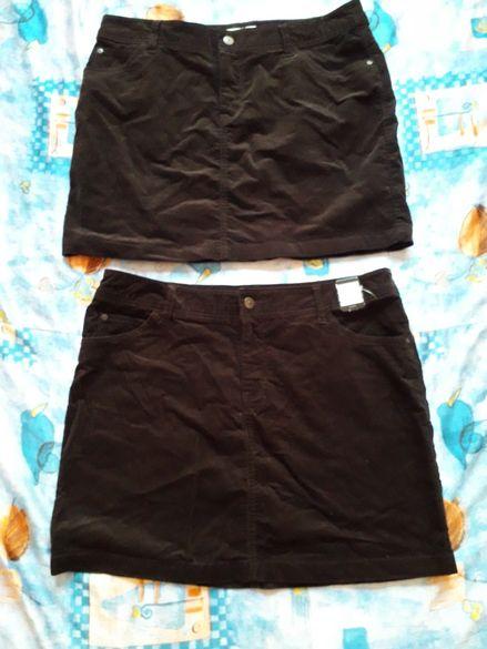 Две еднакви черни дънкови поли