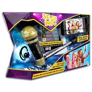 Microfonul selfie cu maner auriu si negru - SELFIE MIC - IEFTIN
