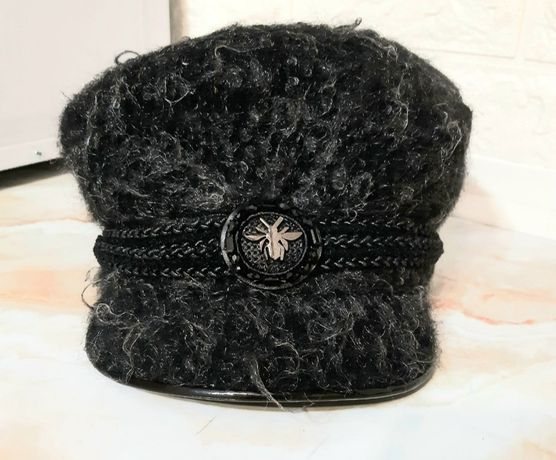Шерстяная стильная шапка (кепка), Италия