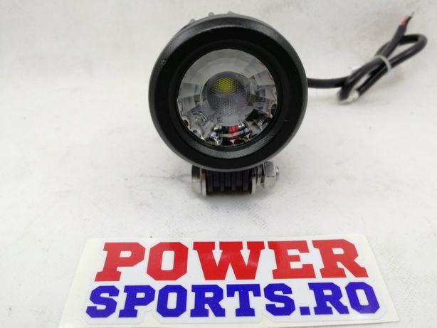 Proiector LED moto metal 10w ( proiector Atv motocicleta)