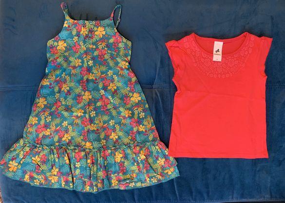 Комплект рокля и блузка за момиче, размер 98 см.