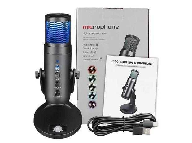 USB конденсаторный микрофон для аудио, записи вокала, для подкастинга
