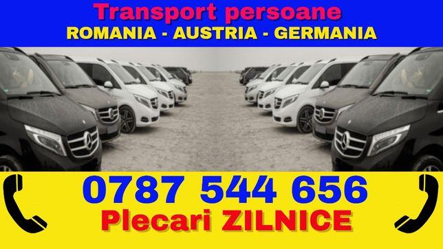 Transport ZILNIC persoane colete si pachete Romania Austria Germania