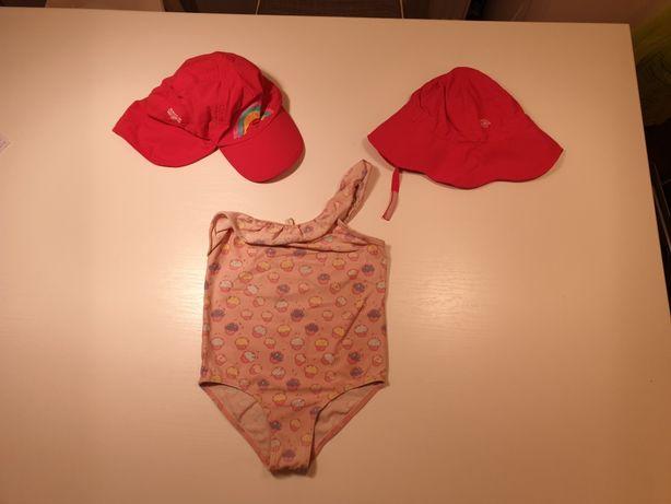 Costum baie , palarie soare pt copii 3-4 ani - livrare curier gratuit