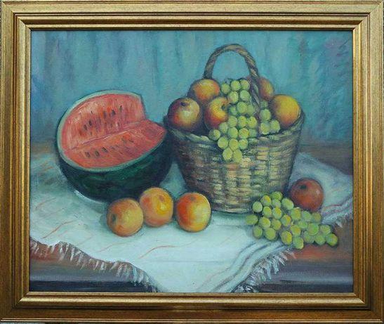 Стара картина - Натюрморт, маслени бои