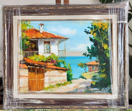 Картини с маслени бои, размер 30 / 24 см, с рамка.