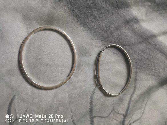 2 сребърни гривни масивни