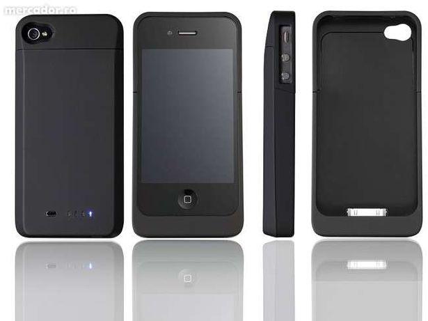 Baterie externa 1900mAh Rechargeable External Battery Case iPhone 4
