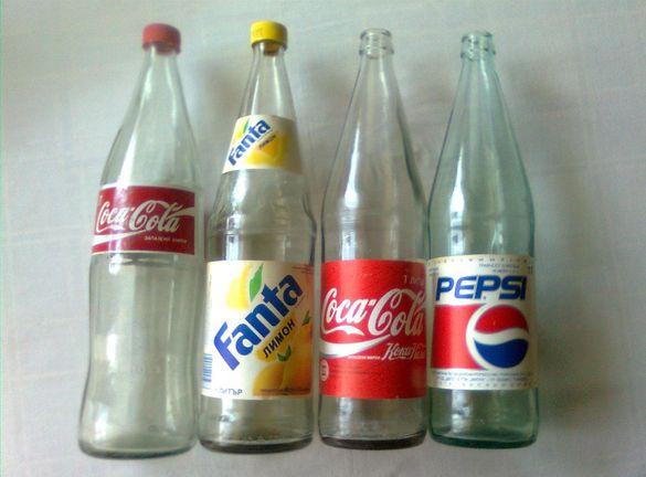 ретро стъклени бутилки - лот алкохол, безалкохолни и др.