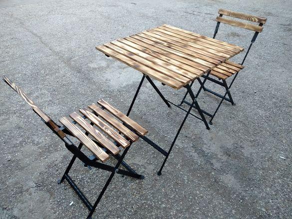 Сгъваема маса и столове