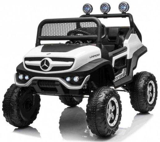 Mercedes Benz NEW UNIMOG 4×4 199 Alb Masinuta Electrica Pentru Copii
