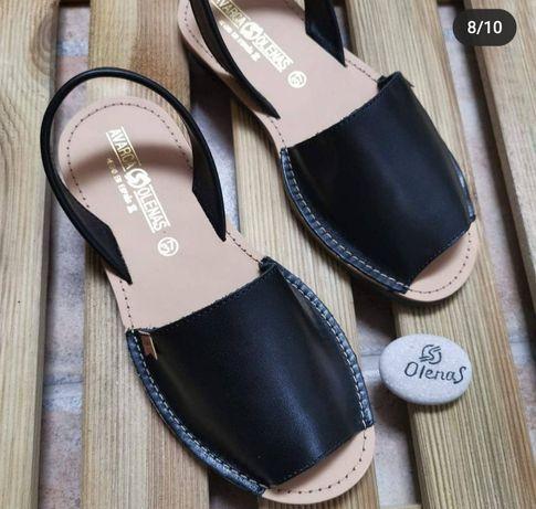 Менорки, сандали Испания, кожа