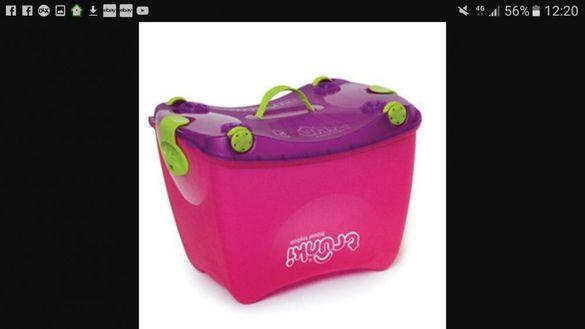 Кутия за играчки с колелца тролей Trunki travel toy box