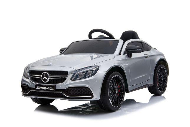 Masinuta electrica KINDERAUTO Mercedes C63 12V STANDARD #Silver
