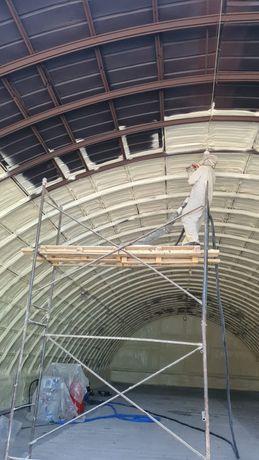 Утепление крыш домов методом напыления Пенополиуретаном